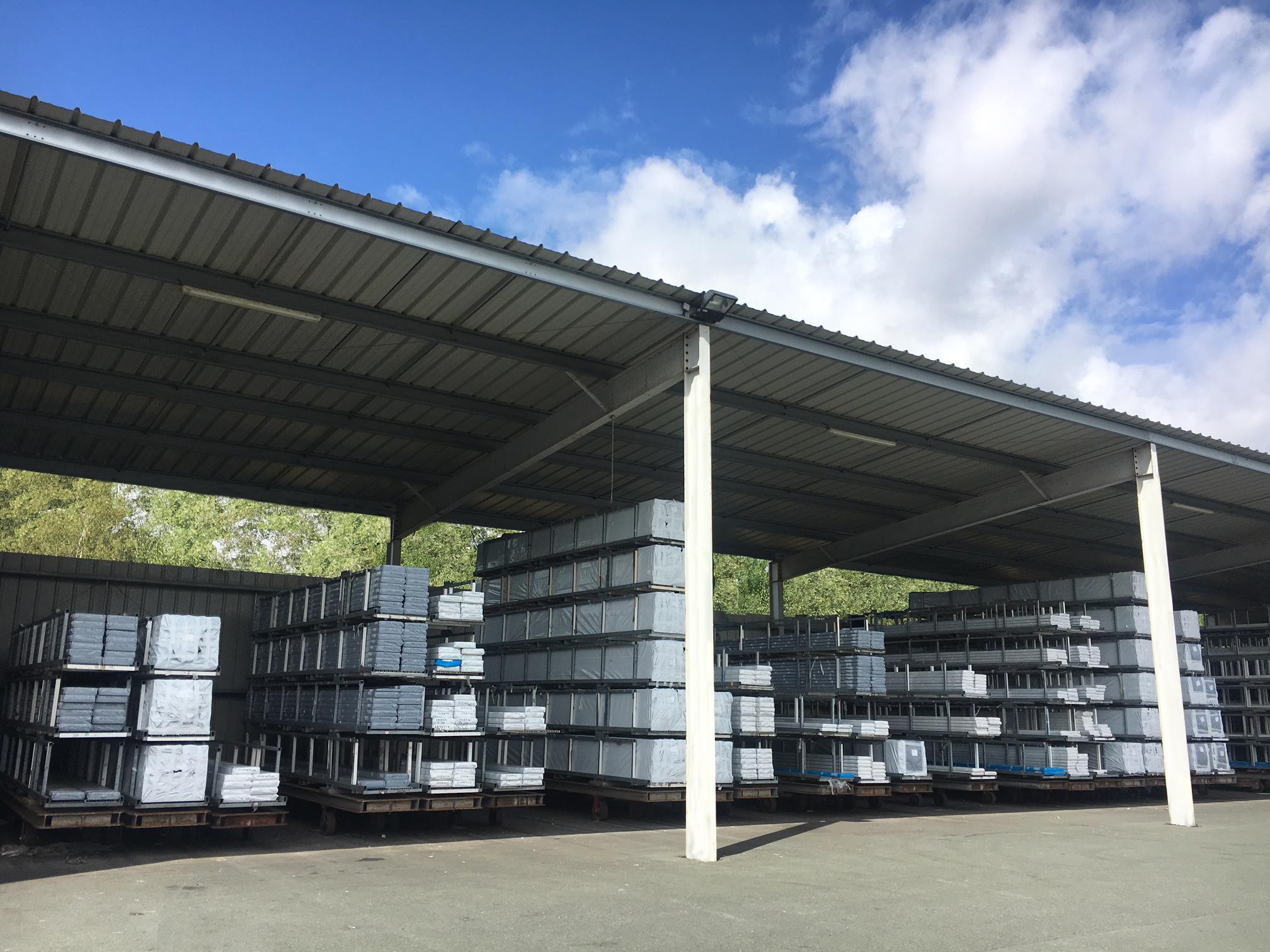 stockage profilés PVC